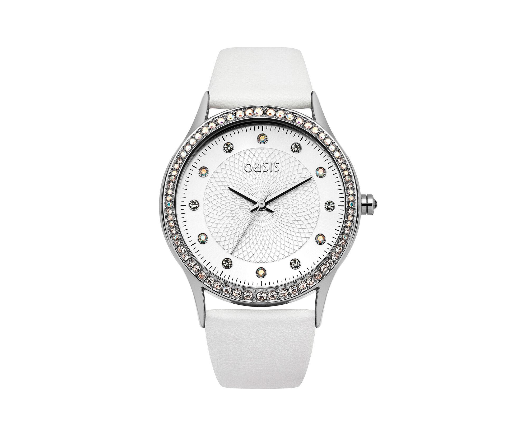Oasis, White Strap Watch White 0