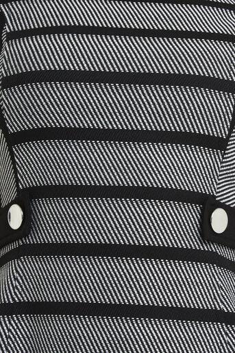 Oasis, Petite Stripe Shift Dress Black and White 4
