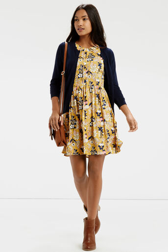 Oasis, Edie Floral Skater Multi Yellow 2