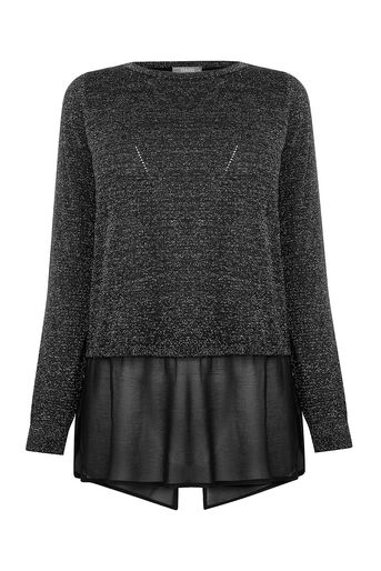 Oasis, Sparkle Chiffon Knit Black 0