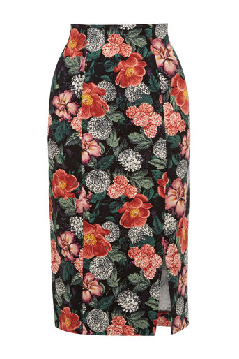 Oasis, Botany Print Pencil Skirt Multi 0