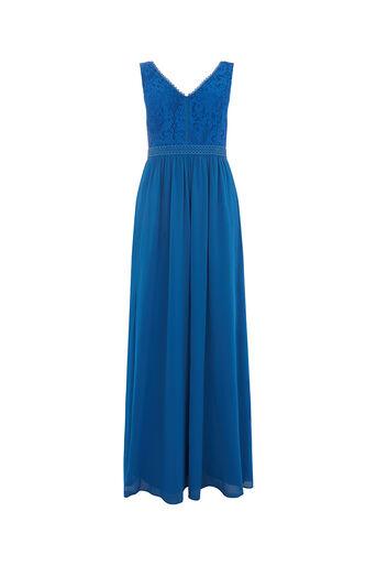 Oasis, LACE BODICE MAXI DRESS Cobalt Blue 0