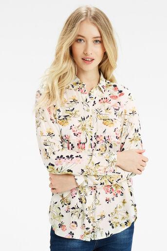 Oasis, Sofia Print Viscose Shirt Multi Natural 1