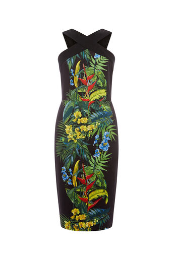 Oasis, TROPICAL COLD SHOULDER DRESS Multi 0