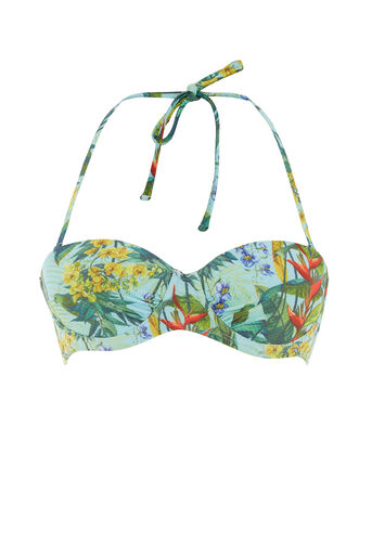Oasis, Tropical penang bikini cup top Pale Green 0