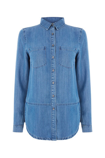 Oasis, GEORGIE DENIM SHIRT Denim 0