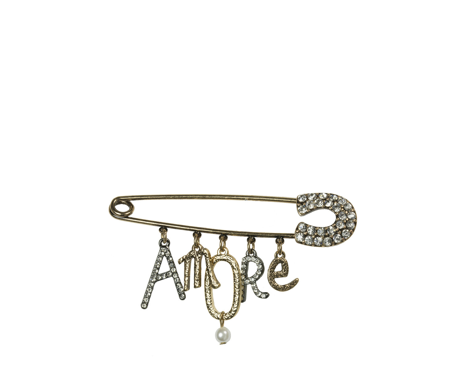 Oasis, AMORE PIN BROOCH Gold 1
