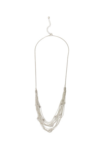 Oasis, MULTI CHAIN NECKLACE Dark Grey 0