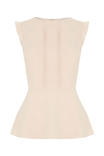 Oasis, PEPLUM TOP Off White 0