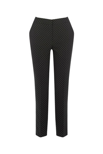 Oasis, SPOT SLIM LEG TROUSER Multi Black 0