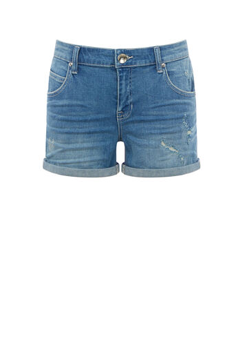 Oasis, RIP AND REPAIR MILLIE SHORT Denim 0