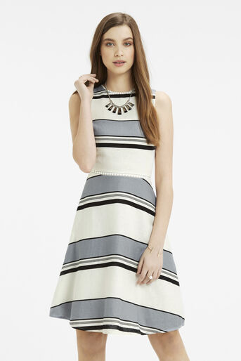 Oasis, Skater Dress - Longer Length Multi Blue 1