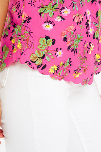 Oasis, Sophia Scallop Vest Multi Pink 4