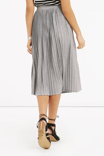 Oasis, Pleated Skirt Pale Grey 3