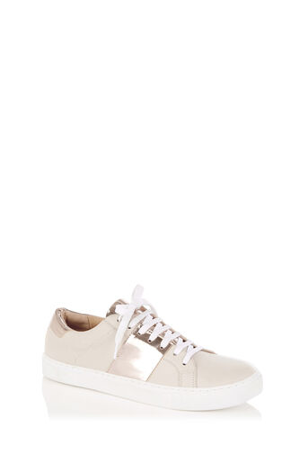 Oasis, LULU LEATHER TRAINER Mid Neutral 0