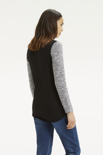 Oasis, Tweed Patched Sweater Black 3