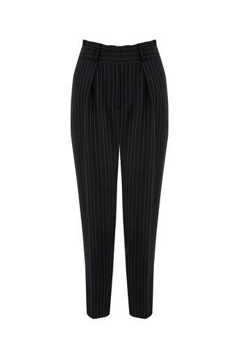 Oasis, Stripe Peg Trouser Multi Blue 0