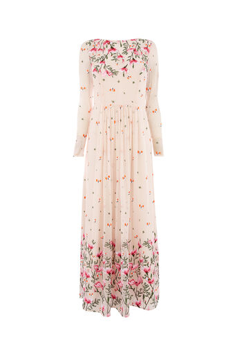 Oasis, EMBROIDERED MAXI DRESS Multi Natural 0