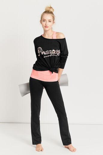 Oasis, Pineapple Straight Cut Trouser Black 2