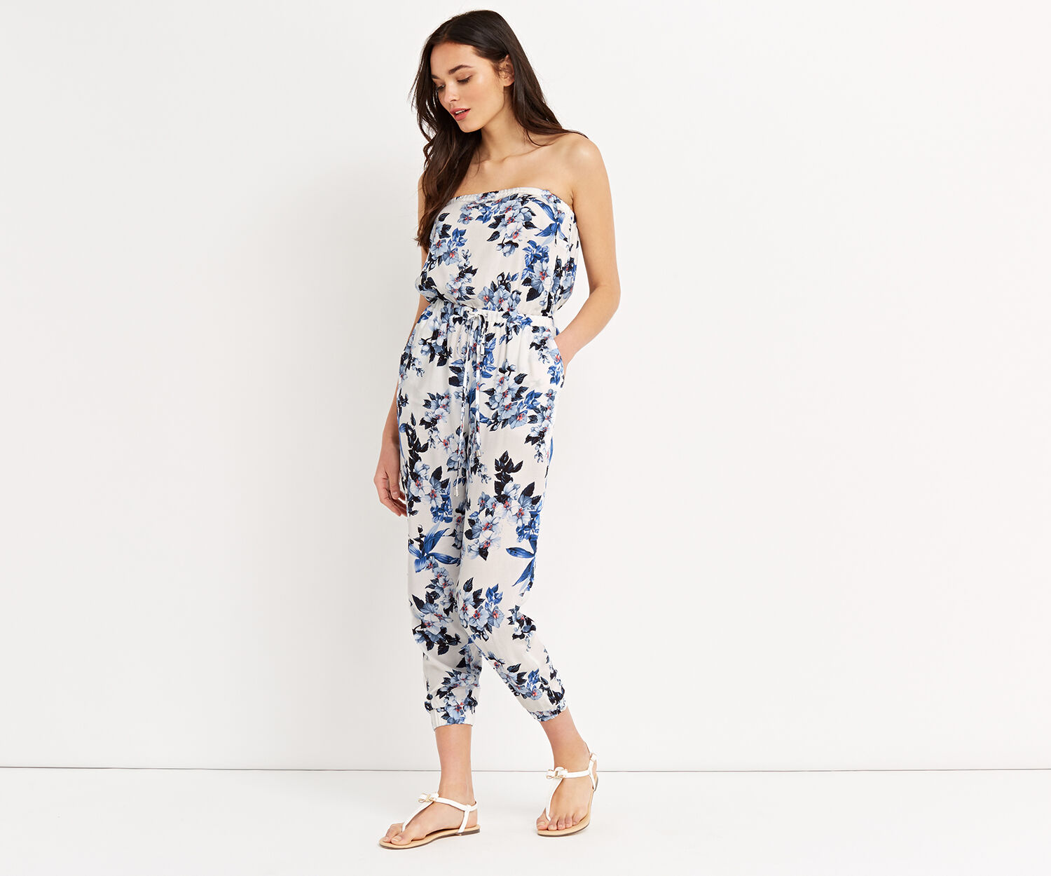 Oasis, Botanical orchid jumpsuit Off White 1