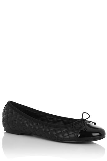 Oasis, QUILTED BALLERINA FLAT Black 0