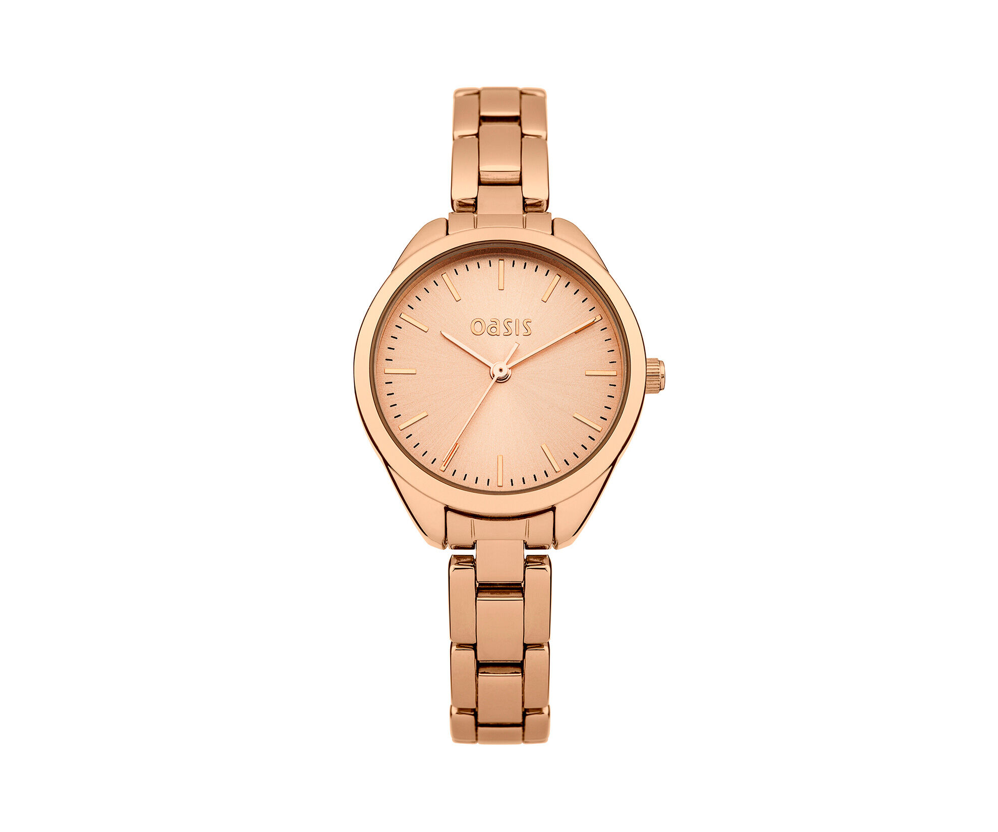 Oasis, Rose Gold Tone Bracelet Watch Antique Gold 0