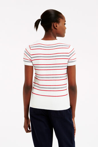 Oasis, Stripe button knit Multi 3