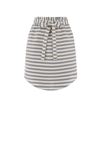Oasis, STRIPE PAPERBAG SKIRT Multi 0