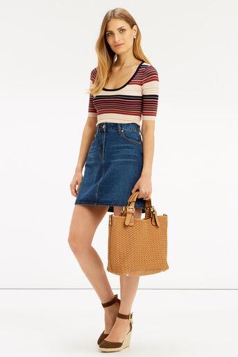 Oasis, Sparkle stripe knit top Multi 2
