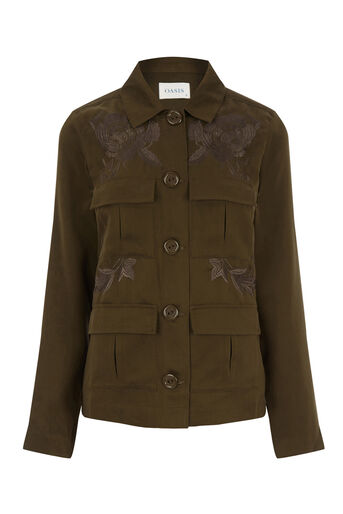 Oasis, The Falls Utility Jacket Khaki 0