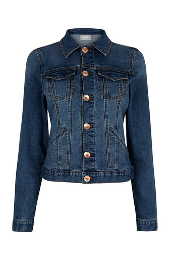 Oasis, WILLOW DENIM JACKET Denim 0