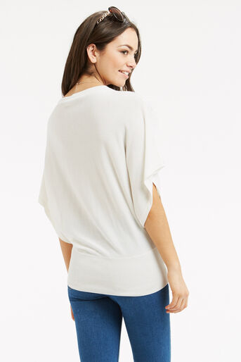 Oasis, Pointelle Summer Wrap Top Off White 3