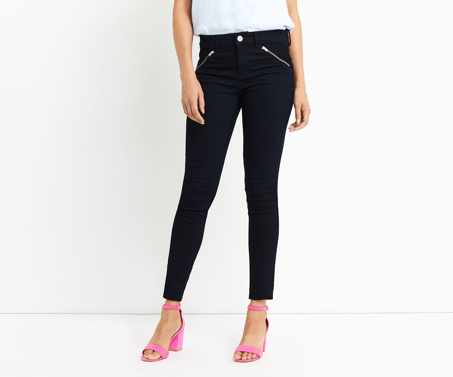 Oasis, RINSE WASH PINSTITCH JEAN Dark Wash 1