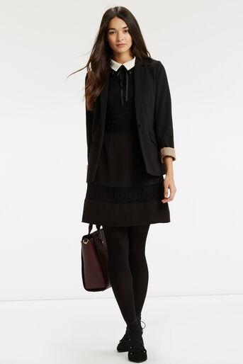 Oasis, Lace Stripe Collar Skater Black 2