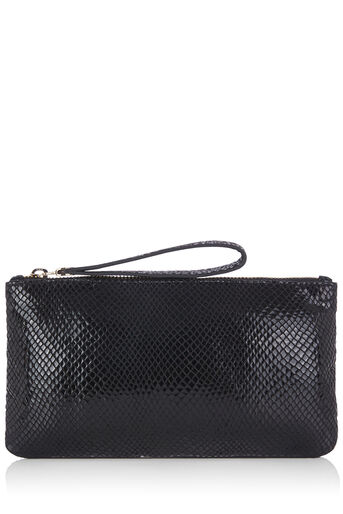 Oasis, LEATHER LILY SNAKE PURSE Black 0