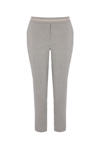 Oasis, SHORT INES TROUSER Mid Grey 0