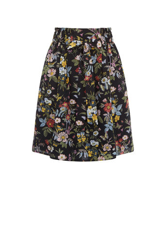 Oasis, SPRING FLORAL SKIRT Multi Black 0