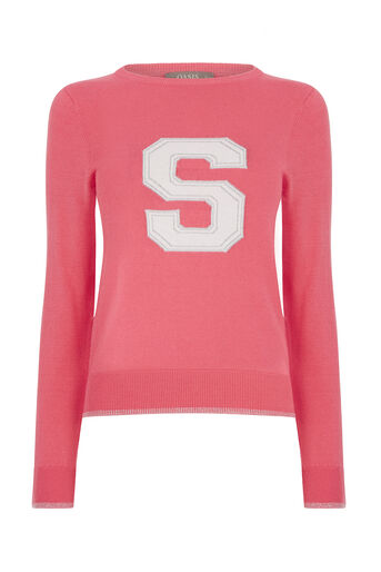 Oasis, S LETTER SWEATER Coral 0