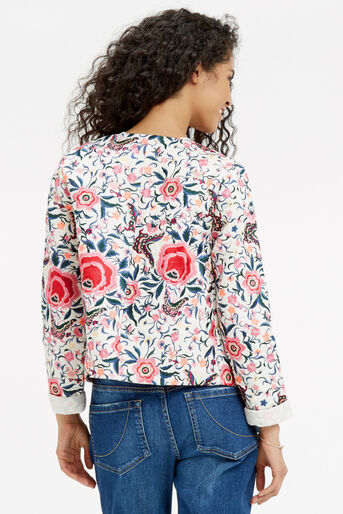 Oasis, Embroidered Cuba Floral Jacket Multi 2