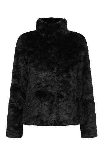 Oasis, PETITE DOLLY FAUX FUR COAT Black 0