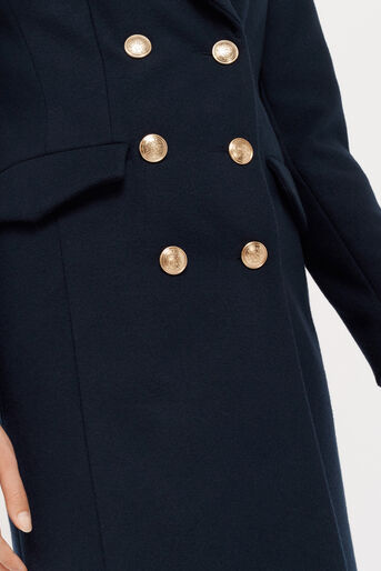 Oasis, CHERYL BUTTON DETAIL MILITARY Navy 4
