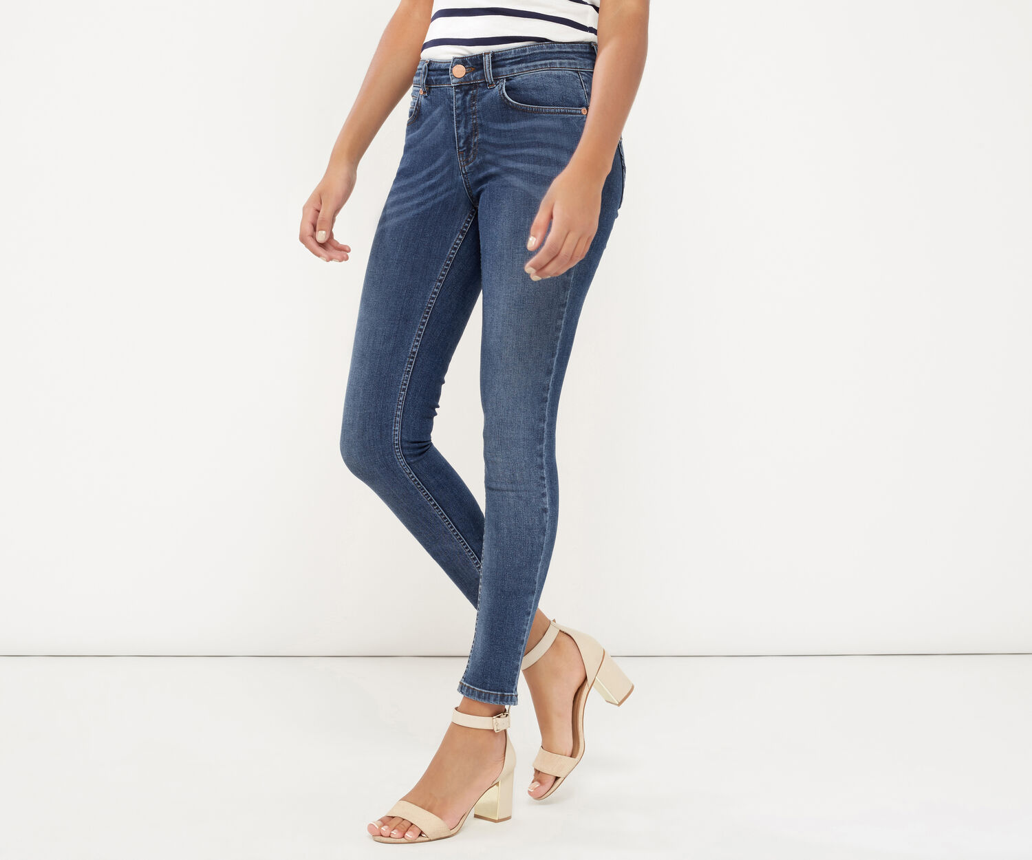 Oasis, Sculpting Slim Leg Jeans Denim 1