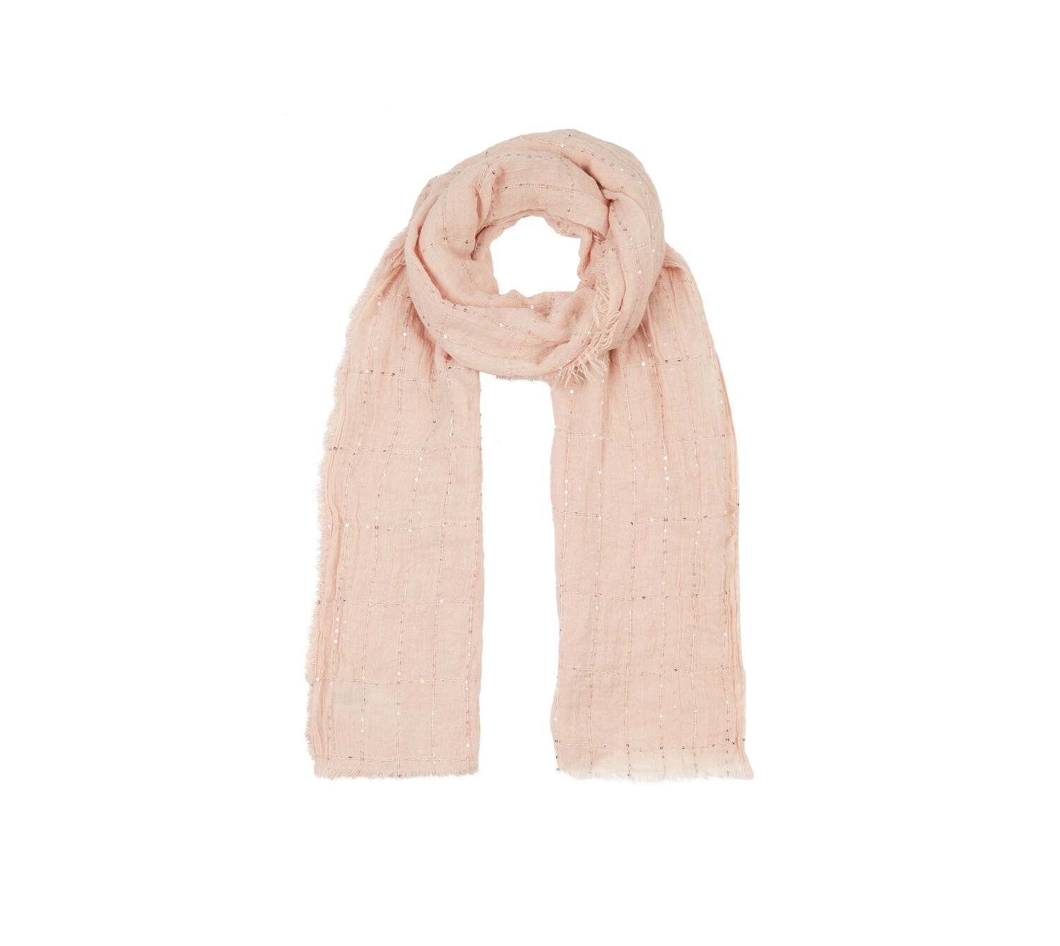 Oasis, Sequin Lightweight Scarf Mid Pink 0