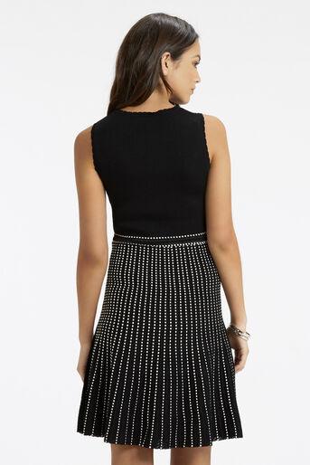 Oasis, Lace Compact Statement Dress Black 3