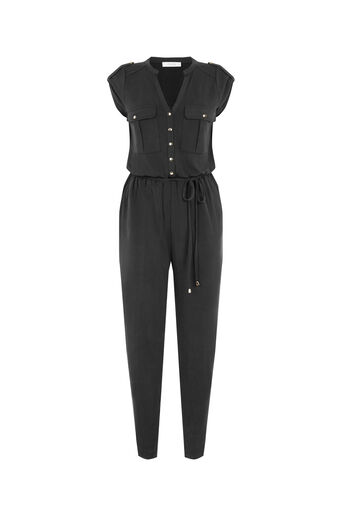 Oasis, SOFT UTILITY JUMPSUIT Dark Grey 0
