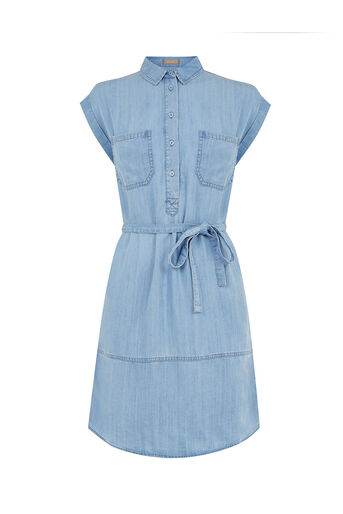 Oasis, Taylor Shirt Dress Denim 0