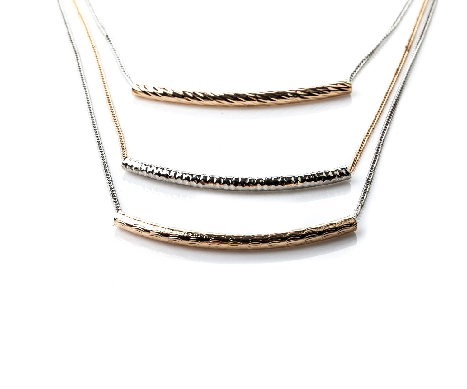 Oasis, LAYERED BAR NECKLACE Multi Gold 1