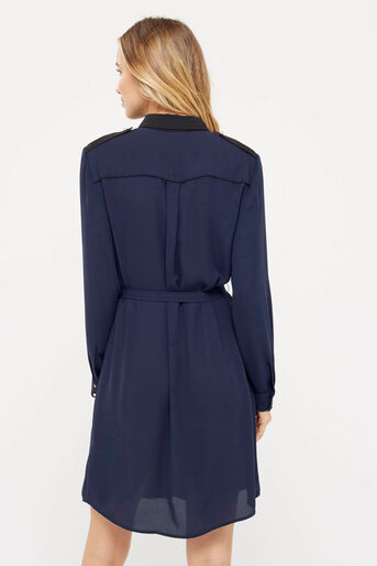 Oasis, UTILITY PIPED SHIRT DRESS Navy 3