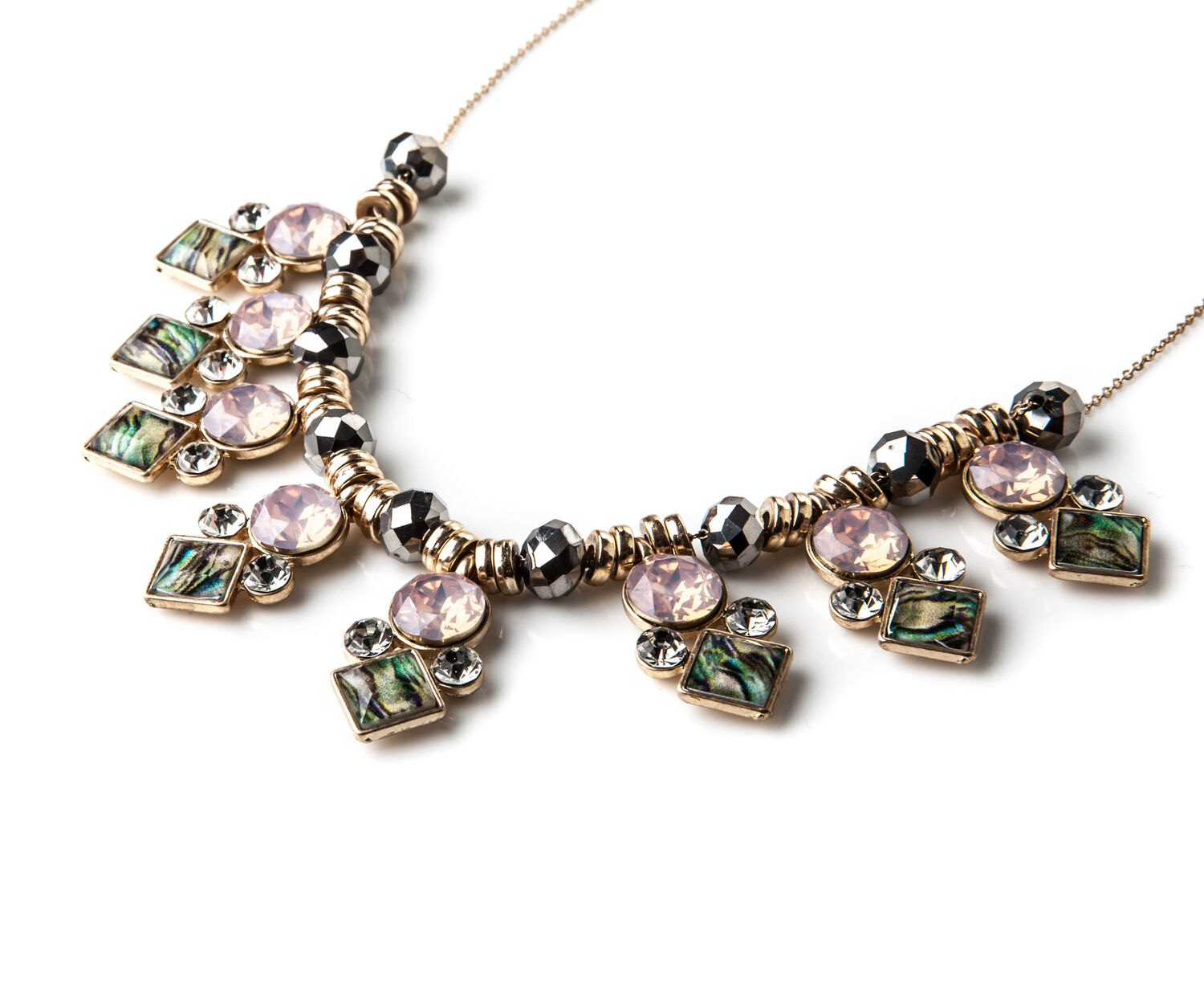 Oasis, JEWELLED BLUSH NECKLACE Rose Gold 1