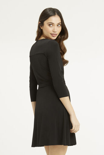 Oasis, Wrap Dress Black 3